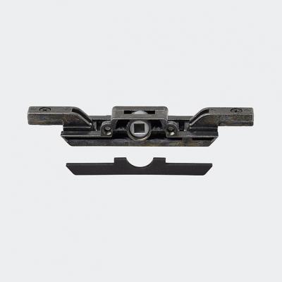 Crémone de verrouillage encastrée avec ou sans anti-fausse manœuvre, axe 43 mm + adaptateur AS60, 28790300, 28790400