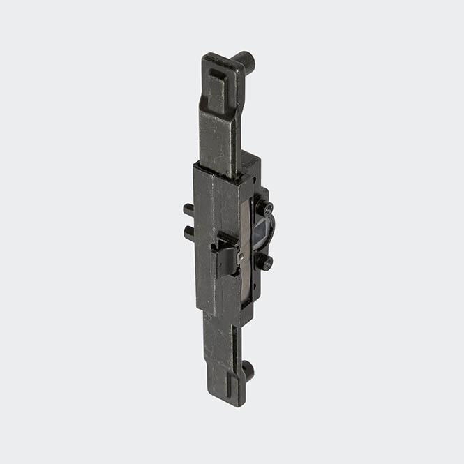 Crémone de verrouillage encastrée pour poignée à ficher, axe 23 mm, 25313600